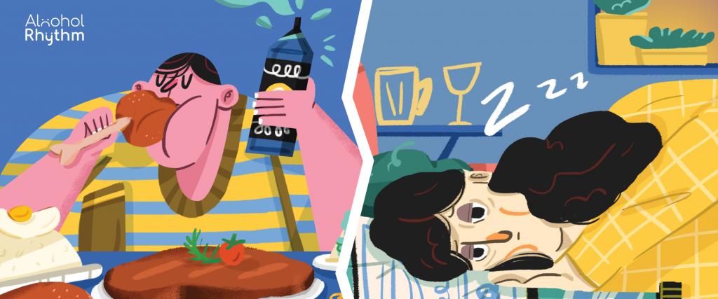เหล้ากับเรา : เพราะการดื่มทำให้เรากินมากไป-นอนไม่หลับ